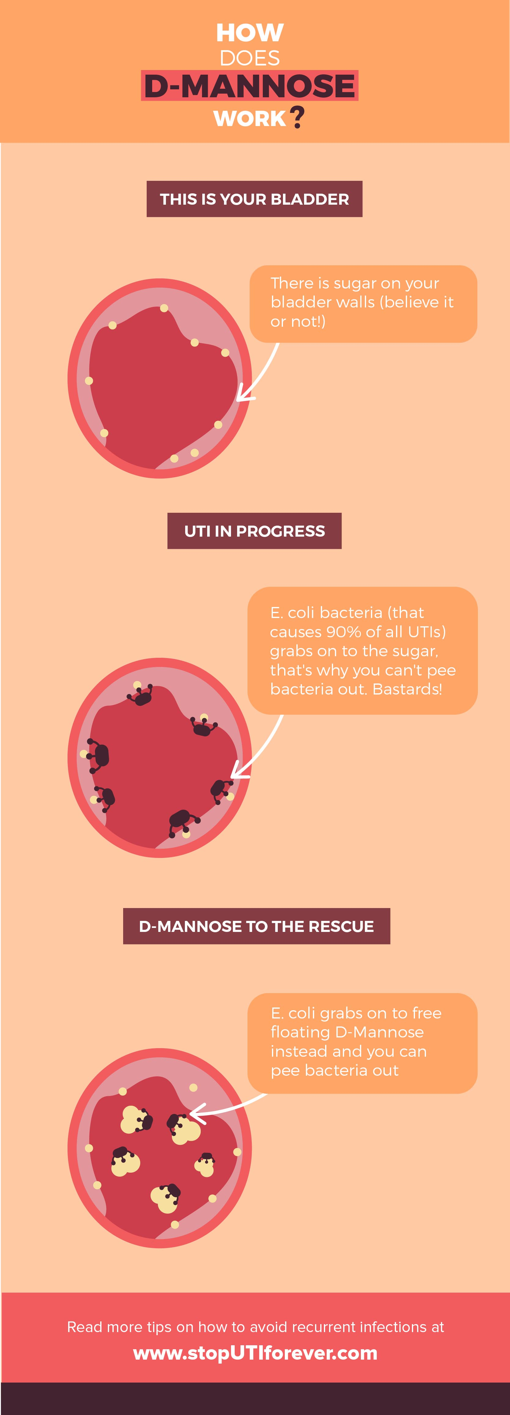 Infographic: how does d-mannose work?